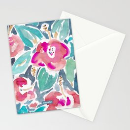 Peach Hibiscus Stationery Cards