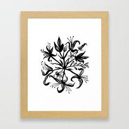 Black bouquet Framed Art Print