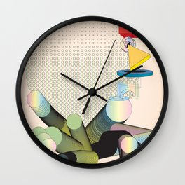 Geometric Shapes in Motion: an Abstraction in Color Wall Clock