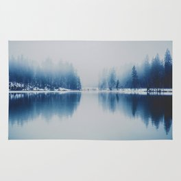 Icy Forest on Water (Color) Rug