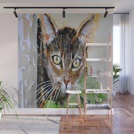 The Curious Tabby Cat Wall Mural