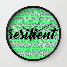 Resilient - Green Wall Clock