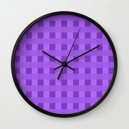 Retro Purple Squares Wall Clock