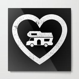 Motorhome Heart - Camper van Owner Gift Metal Print