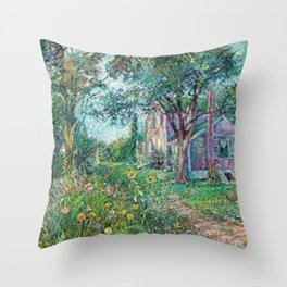 Artists House, Hampton Bay by David Davidovich Burliuk Throw Pillow