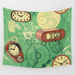TIC TAC TIME Wall Tapestry