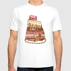 Pat A Cake MEDIUM Mens Fitted Tee White