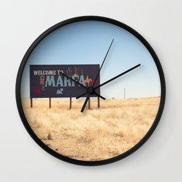 Welcome to Marfa Wall Clock