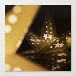 Xmas-Star And Mirror Image Canvas Print