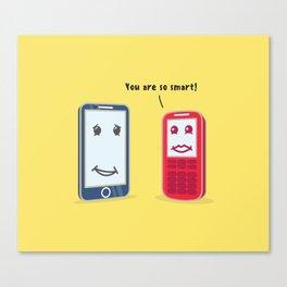 Smartphone evolution Canvas Print