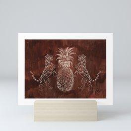 Bandipur (on Cocoa Bean Brown) Mini Art Print