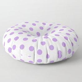 Polka Dots (Lavender & White Pattern) Floor Pillow