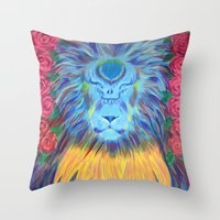 grateful dead Throw Pillows featuring Grateful by SRC Creations