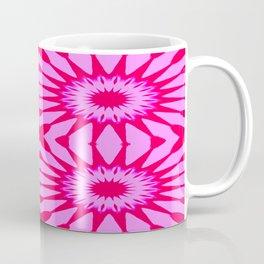 Fuchsia Pink Flowers Mandala Coffee Mug