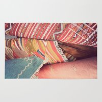 moroccan Area & Throw Rugs featuring Moroccan by Paint Pattern Photo