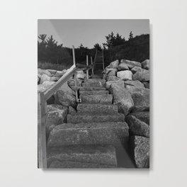 Cape Cod Stairs Metal Print