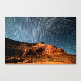 Stars on the Cliffside Canvas Print