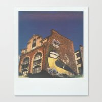 manchester Canvas Prints featuring Manchester by Richard PJ Lambert