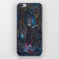 sylvia plath iPhone & iPod Skins featuring Sylvia by Circle of Wolves - Art by Jessica Luna