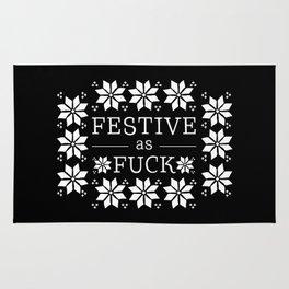 Festive as fuck Rug