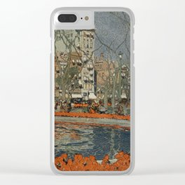 Guerin, Jules (1866-1946) - Scribner's Magazine 37 1905 - Tulips bloom in Union Square 2 Clear iPhone Case