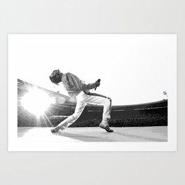 Freddie of Queen at Wembley 1986 Illustration Art Print