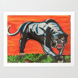 panther, night demon Art Print