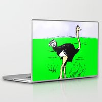 ostrich Laptop & iPad Skins featuring Ostrich by wingnang
