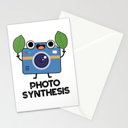 Photo Synthesis Cute Science Camera Pun Stationery Cards