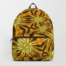 Golden Morning Double Kaleidoscope Neon Yellow Backpack