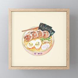 Ramen Pugs Watercolor Framed Mini Art Print