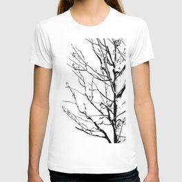 tree black and white T-shirt
