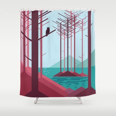 The guardian of the forest Shower Curtain