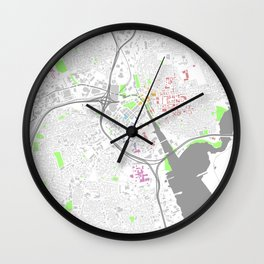 Providence Map Poster Wall Clock