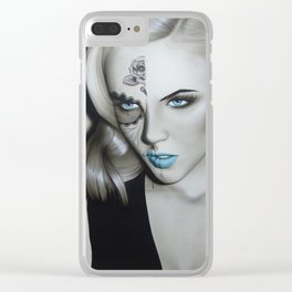 'Silver Soul' Clear iPhone Case