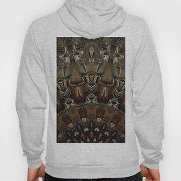 Steel Metal Brushed Bronze Textured Half Mandala Hoody