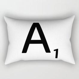 Letter A - Custom Scrabble Letter Wall Art - Scrabble A Rectangular Pillow