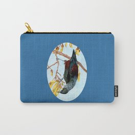 Tui in a Kowhai Tree Carry-All Pouch