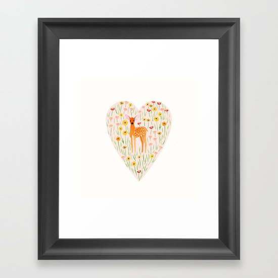 Fawn Valentine Framed Art Print