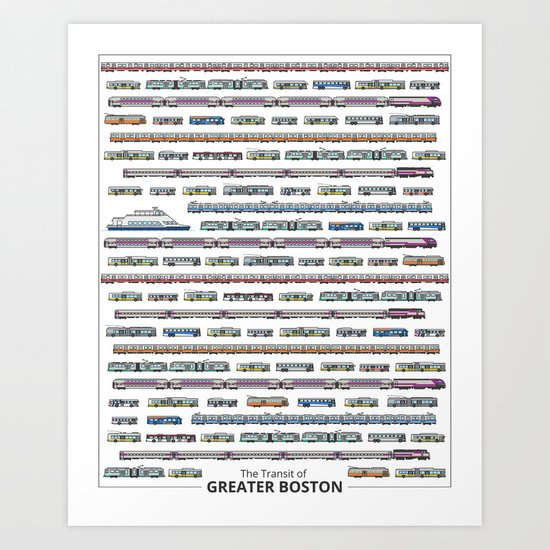 The Transit of Greater Boston Art Print