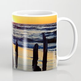 Seaside Sunset from the old Wharf Coffee Mug