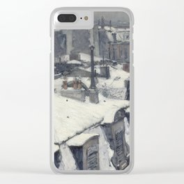 Gustave Caillebotte - Rooftops in the Snow Clear iPhone Case