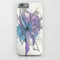 Explosion Flower Blue and Purple iPhone 6s Slim Case