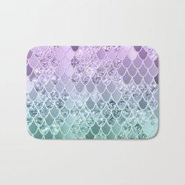 Mermaid Glitter Scales #1 #shiny #decor #art #society6 Bath Mat