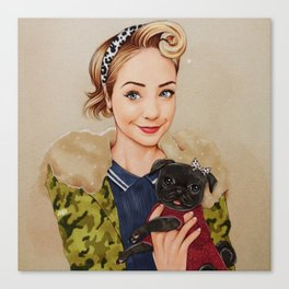 Zoella and Nala Canvas Print