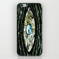 evil eye iPhone & iPod Skins featuring Evil Eye by Lilly Guastella