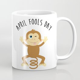 Bounce Monkey Behind You - Happy April Fool's Day Coffee Mug