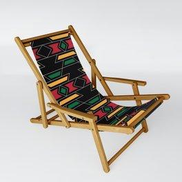 Native Rasta Pattern Sling Chair
