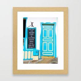 Doors - Blue Framed Art Print