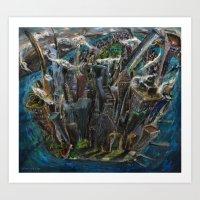 The Worlds Capital (oil on canvas) Art Print